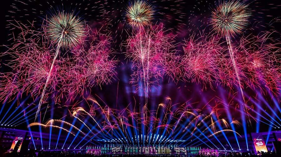 第十三届中国(浏阳)国际花炮文化节开幕焰火晚会